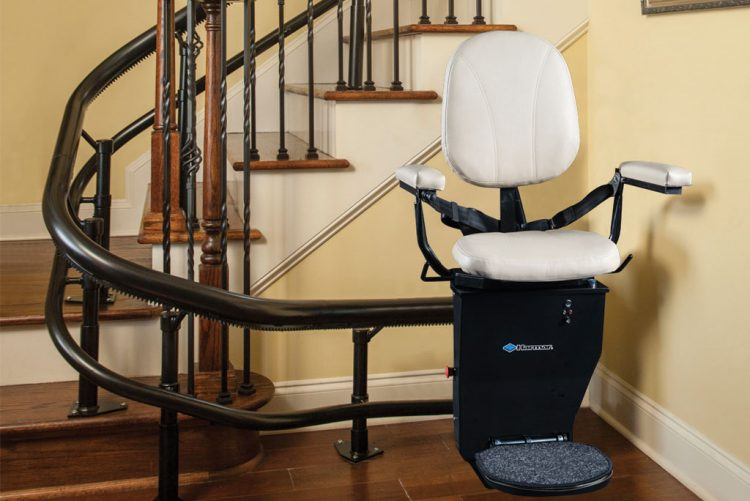 Stair Lift for Home, Curved Stair Lift, Acorn Stairlifts | Centerspan