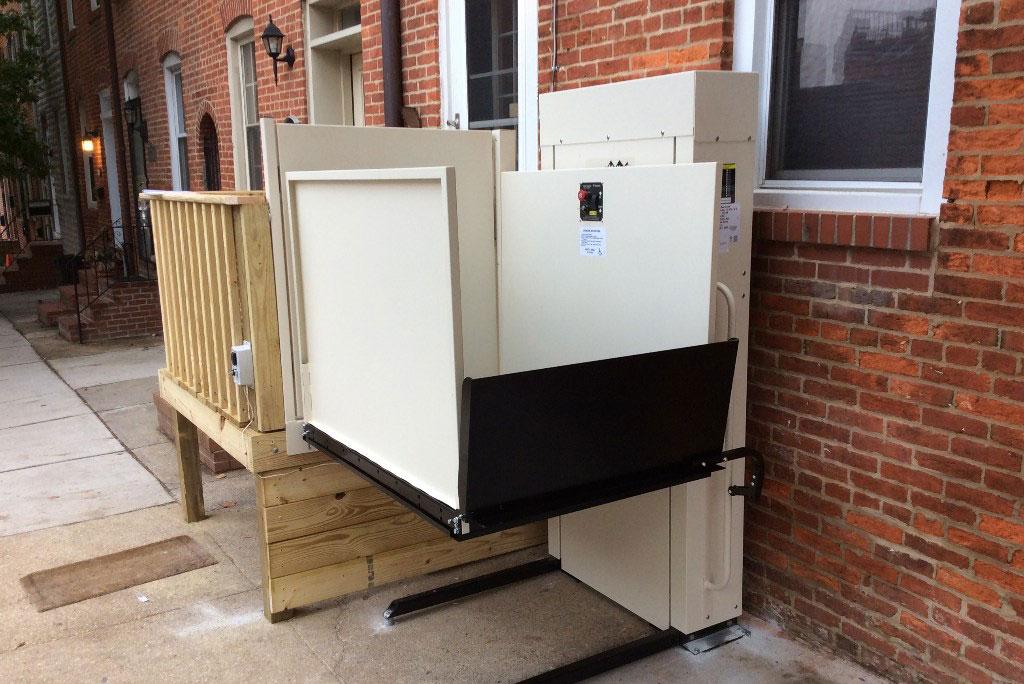 Vertical Platform Lift : Porch lifts vertical vpls centerspan medical