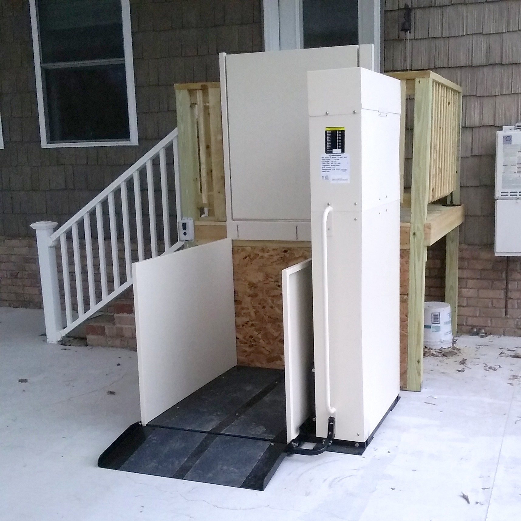 wheelchair lifts platform porch accessnsm lift by