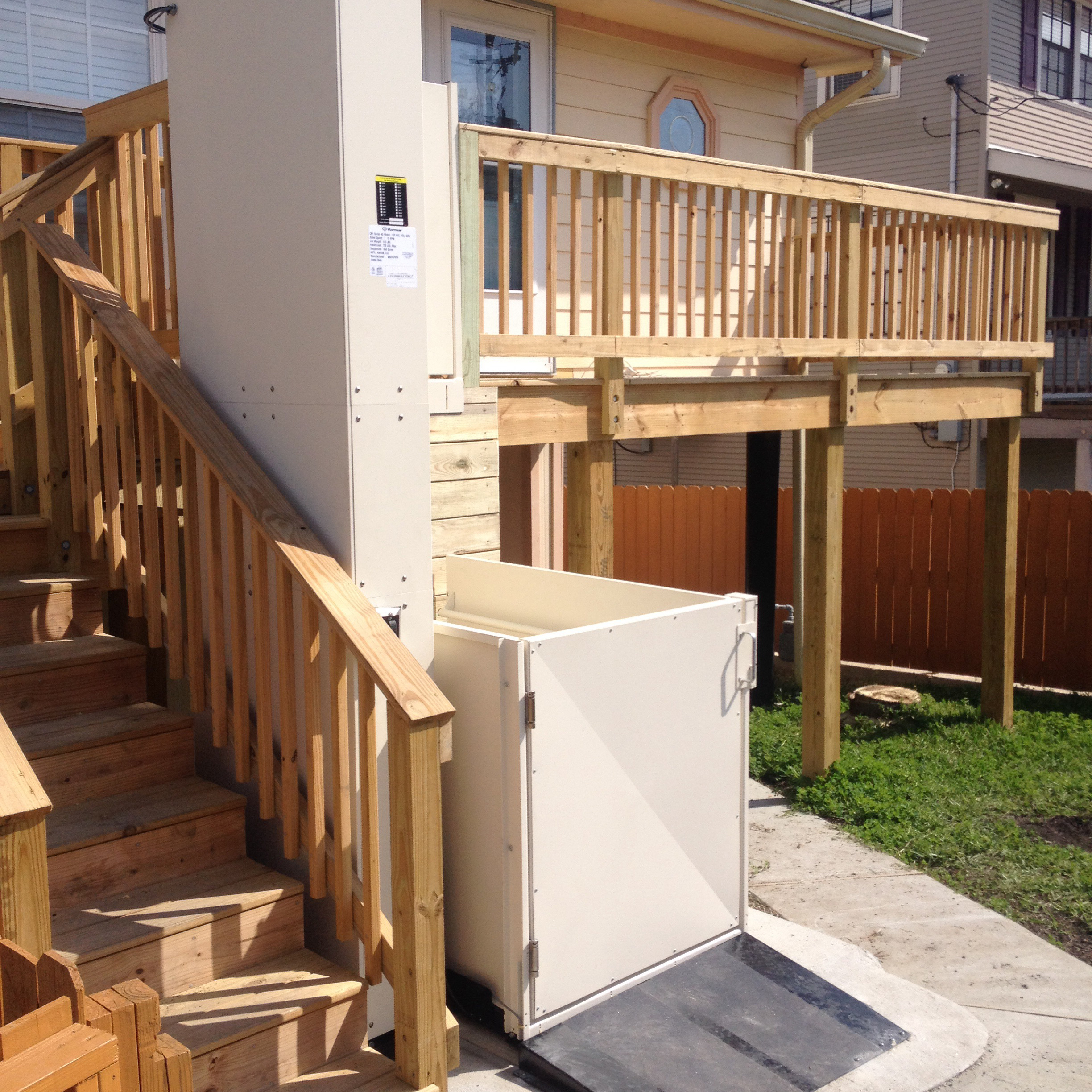 home lifts extended platform lift wheelchair residential porch northside living gallery installed services chicago by ehls on of