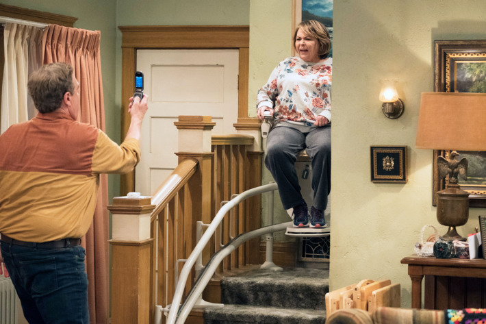 Roseanne and her stair lift